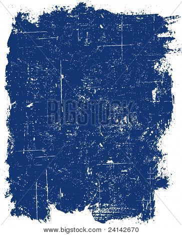 Grunge elements - Blue Grunge Square -  Highly Detailed vector grunge element