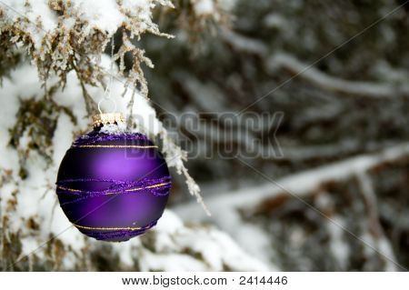 Purple Christmas Ornament