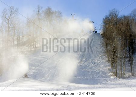 New Snow For The Ski Run