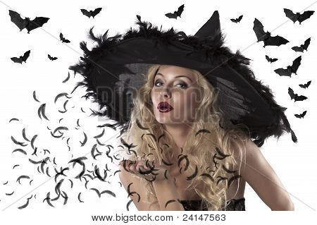 Portrait Of A Cute And Sexy Witch