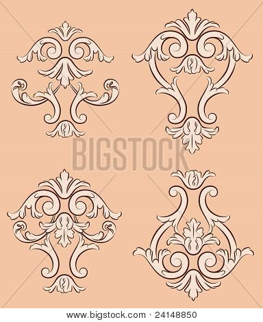 Vintage background with retro ornament