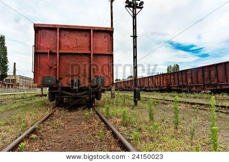 Train At Trainstation Angle Shot