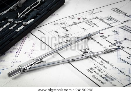 Plan Of A House With A Lot Of Accessories