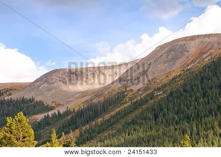 View From Independence Pass In Colorado