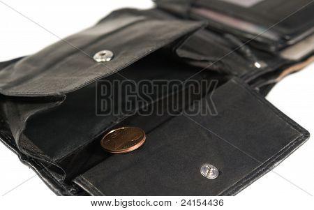 Black Leather Moneybag
