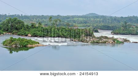 River Nile Scenery Near Jinja In Africa