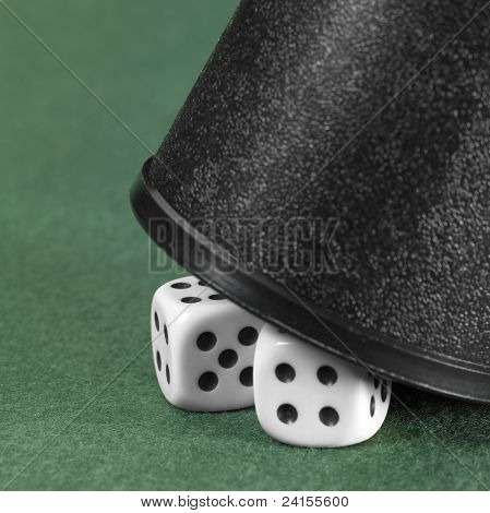 Dice And Black Cup