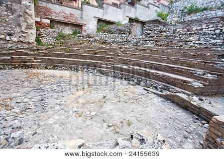 Antique Roman Amphitheater Odeon, Taormina, Sicily