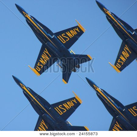 Blue Angels In a Diamond Formation
