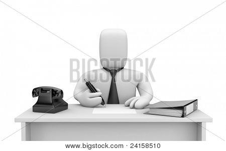 Businessman works