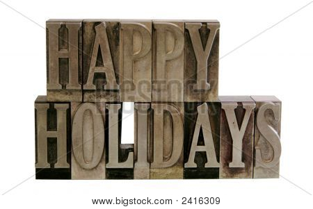 Happy Holidays In Metal Type 1