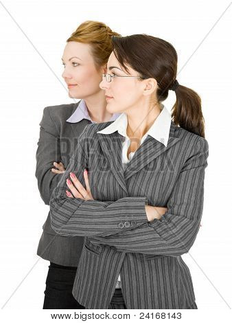 Portrait Of Two Women In Office Clothes
