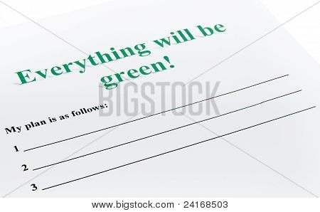 Everything Will Be Green !