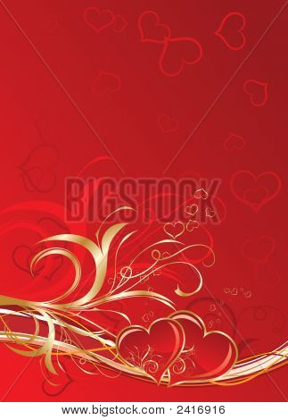 Valentines Floral Background