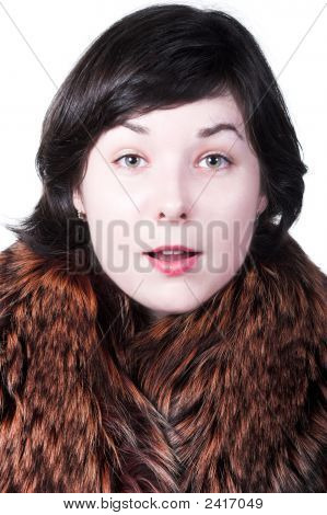 Surprised Girl In Coat