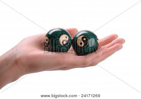 Chinese Balls On A Hand