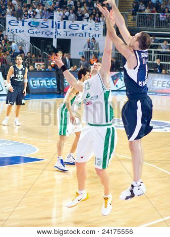 Rakocevic releases a basket