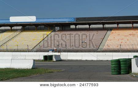 Detail Of A Racetrack Tribune