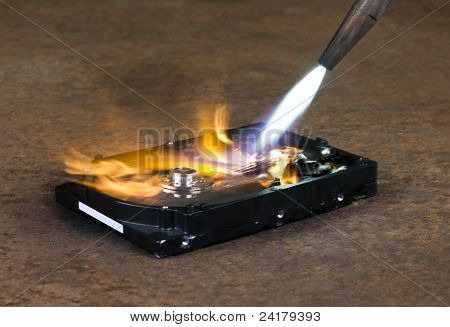Welding Torch And Hard Disk