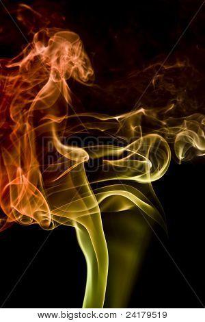 Multicolored Smoke Detail