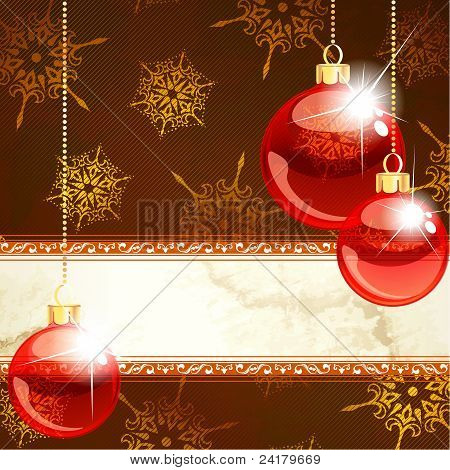 Elegant Christmas banners with transparent ornaments