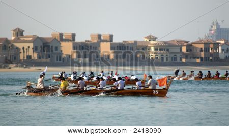 Arabian Traditional Rowing Race