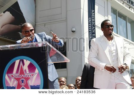 LOS ANGELES - MAY 2: Jamie Foxx and Sean 'P Diddy' Combs at the ceremony honoring him with a star on the Hollywood Walk of Fame on May 2, 2008 on Hollywood Boulevard in Los Angeles, California