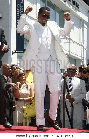 LOS ANGELES - MAY 2: Actor-rapper Sean 'P Diddy' Combs attends the ceremony honoring him with a star on the Hollywood Walk of Fame on May 2, 2008 on Hollywood Boulevard in Los Angeles, California