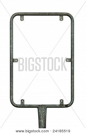 Signboard holder isolated on white