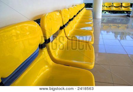 Yellow Plastic Chairs