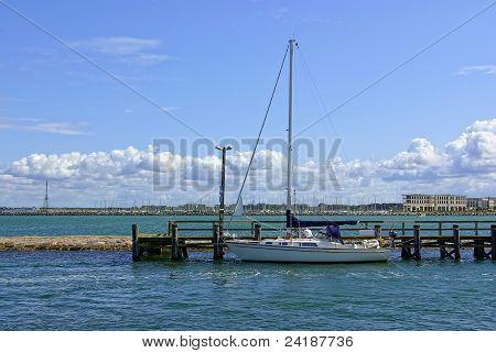 Sailing boat at the landing