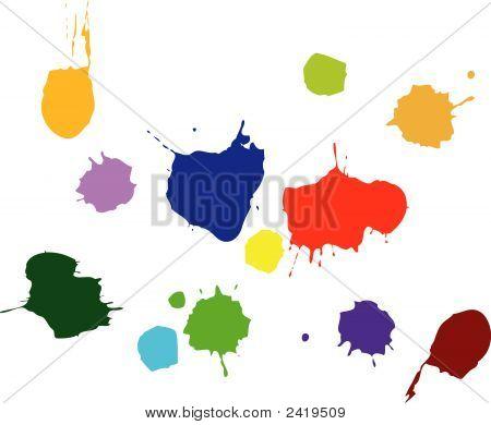 Paint Splats Vector.Eps
