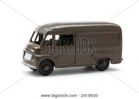 Toy Model Of Classic Brown Delivery Van