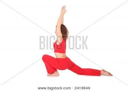 Mãos de menina ioga até