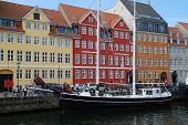 Nyhavn, (copenhagen, Denmark) Is A 17th-century Waterfront, Canal And Entertainment District In Cope poster