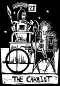 picture of chariot  - A Tarot card image of the Chariot - JPG