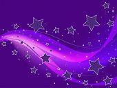 Постер, плакат: Фон пурпурные звезды