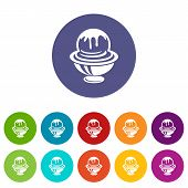 Ice Cream In Cup With Frosting Icon. Outline Illustration Of Ice Cream In Cup With Frosting Vector I poster