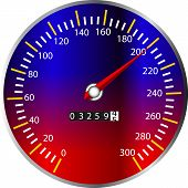 stock photo of speedo  - a illustration of a speed meter from a dashboard - JPG