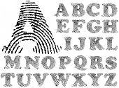 image of fingerprint  - Fingerprint Alphabet  - JPG