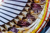 Electric Motor Stator With Winding Coil , View Of Inside Of Electric Motor. poster
