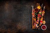 Veggie And Beef Shish Kebab poster