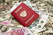 Passport with money