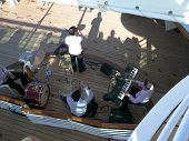 Band Playing On The Deck