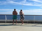 Two Men On The Bow
