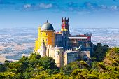 foto of palace  - Pena National Palace in Sintra Portugal  - JPG