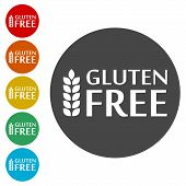 Gluten Free Sign Icon, Simple Icons Set poster