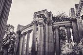 Columns Of Magnificent Palace Of Fine Art In San Francisco poster