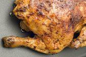 Roasting Chicken Close Up