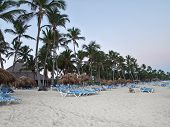 picture of greater antilles  - caribbean beach scenery at the Dominican Republic a island of Hispanola wich is a part of the Greater Antilles archipelago in the Carribean region - JPG